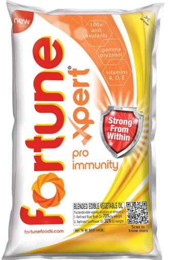 Fortune Xpert Pro Immunity Cooking Oil - 1 Litre Pouch