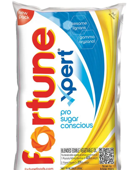 Fortune Xpert Pro Sugar Conscious Cooking Oil - 1 Litre Pouch