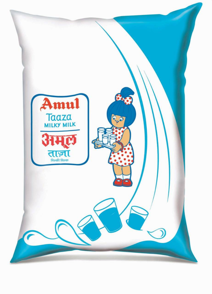Amul Taaza Toned Milk  - 500ml pouch