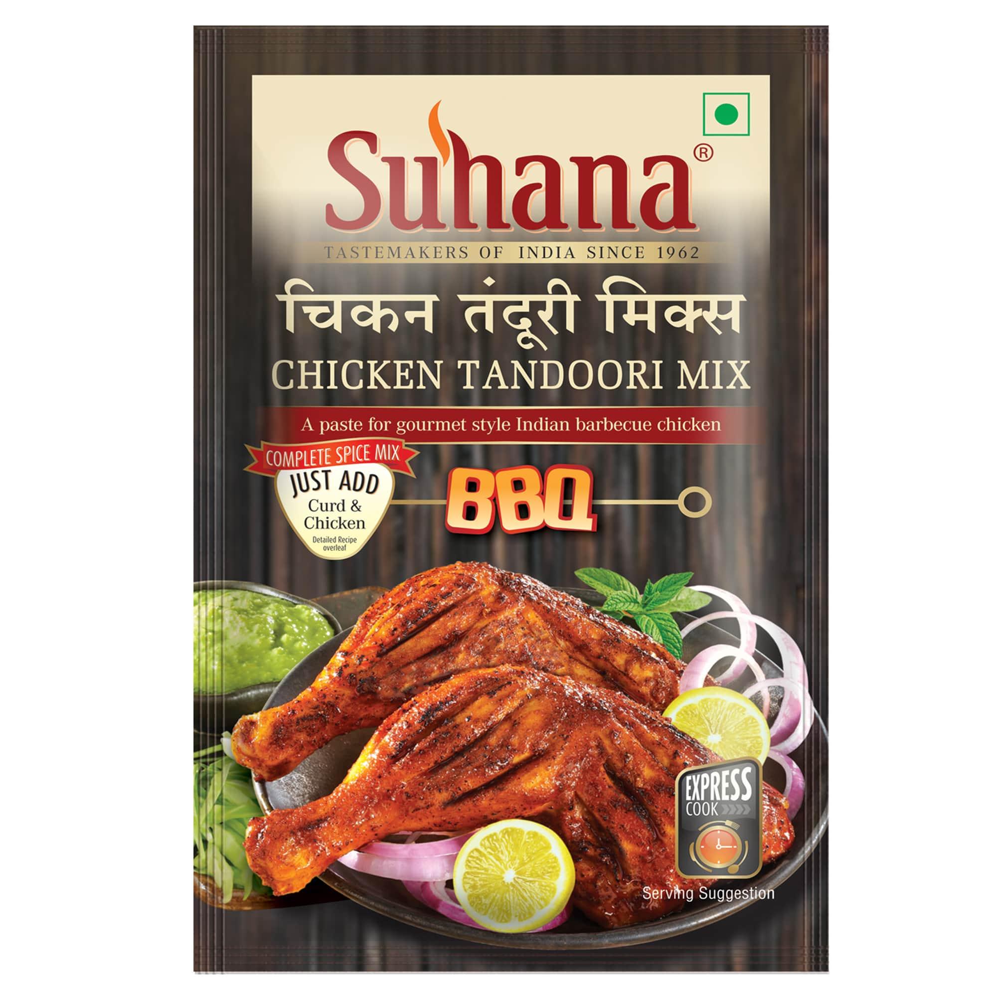 Suhana Chicken Tandoori (Paste) Spice Mix 100 g Pouch