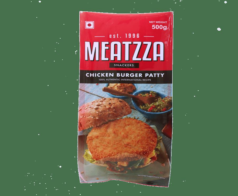 Meatzza Chicken Burger Patty 500 g