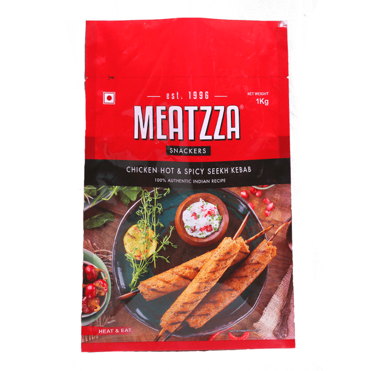 Meatzza Chicken Hot & Spicy Seekh Kebab 1 Kg