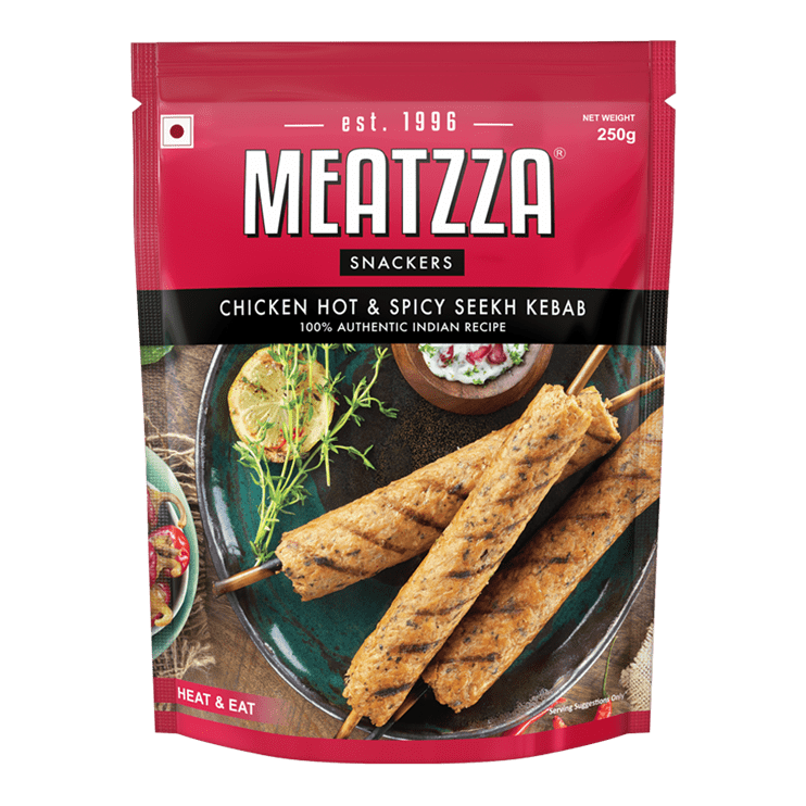 Meatzza Chicken Hot & Spicy Seekh Kebab 250 g