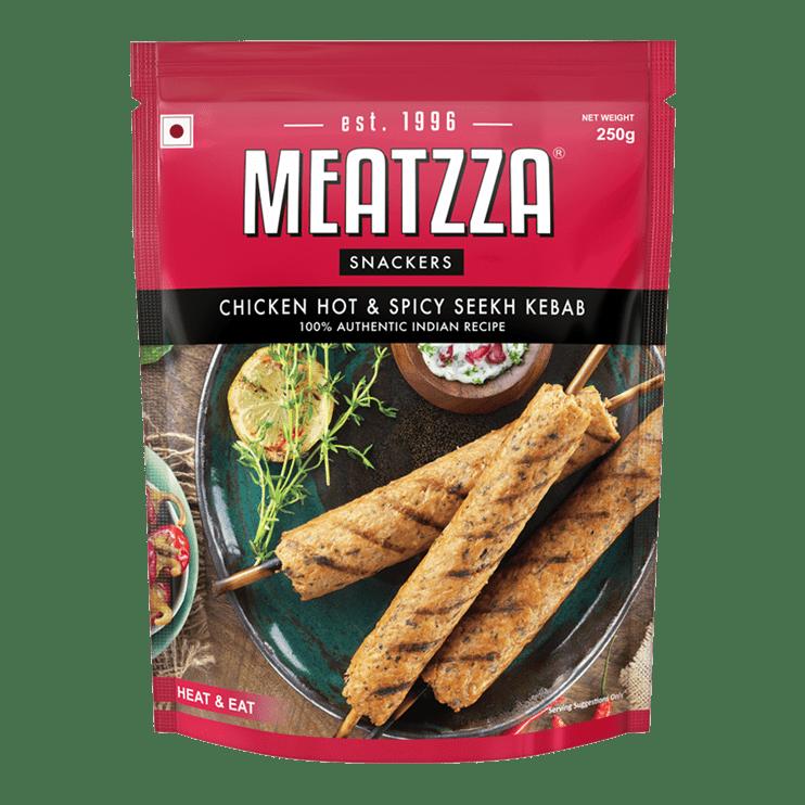 Meatzza Chicken Hot & Spicy Seekh Kebab 250 g