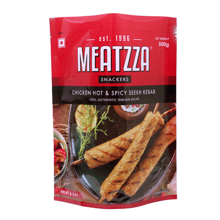 Meatzza Chicken Hot & Spicy Seekh Kebab 500 g