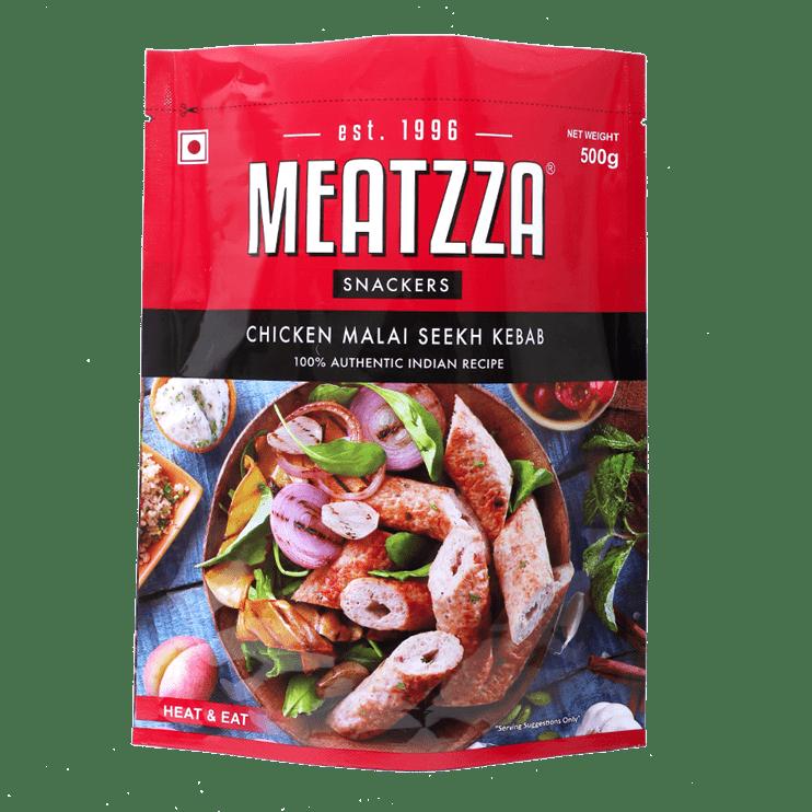 Meatzza Chicken Malai Seekh Kebab 500 g