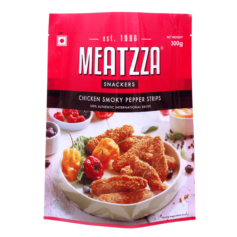 Meatzza Chicken Smoky Pepper Strips 300 g