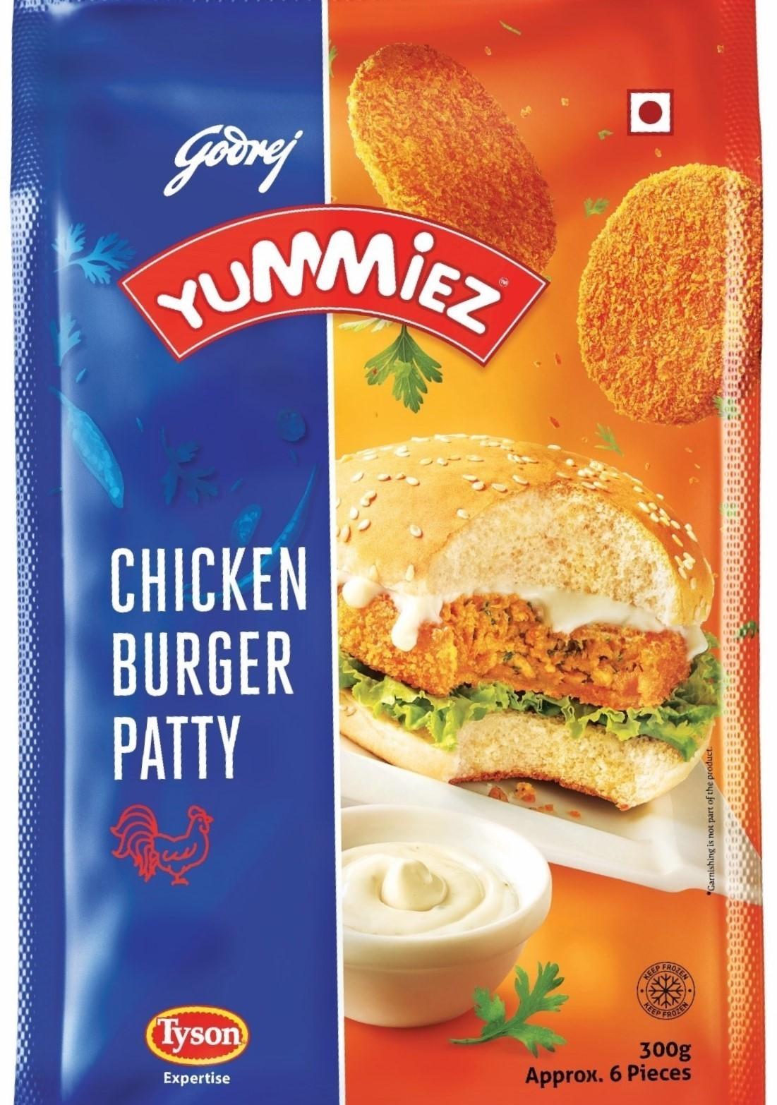 Yummiez Chicken Burger Patty 300 g