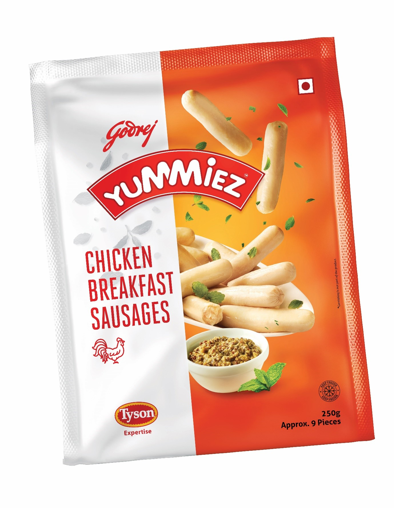 Yummiez Chicken Breakfast Sausages 250 g