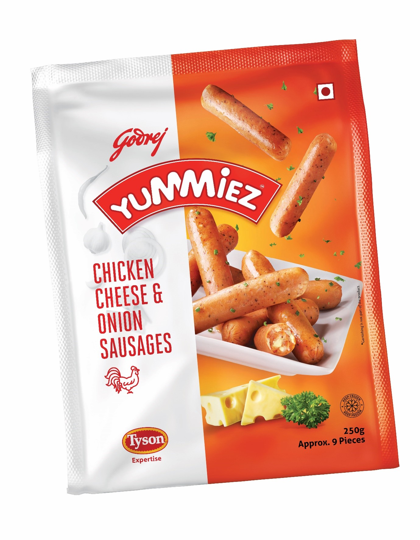 Yummiez  Chicken Cheese & Onion Sausages 250 g