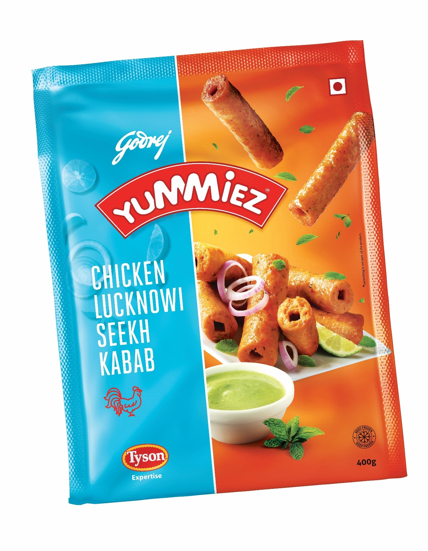 Yummiez Chicken Lucknowi Seekh Kabab Retail 400 g
