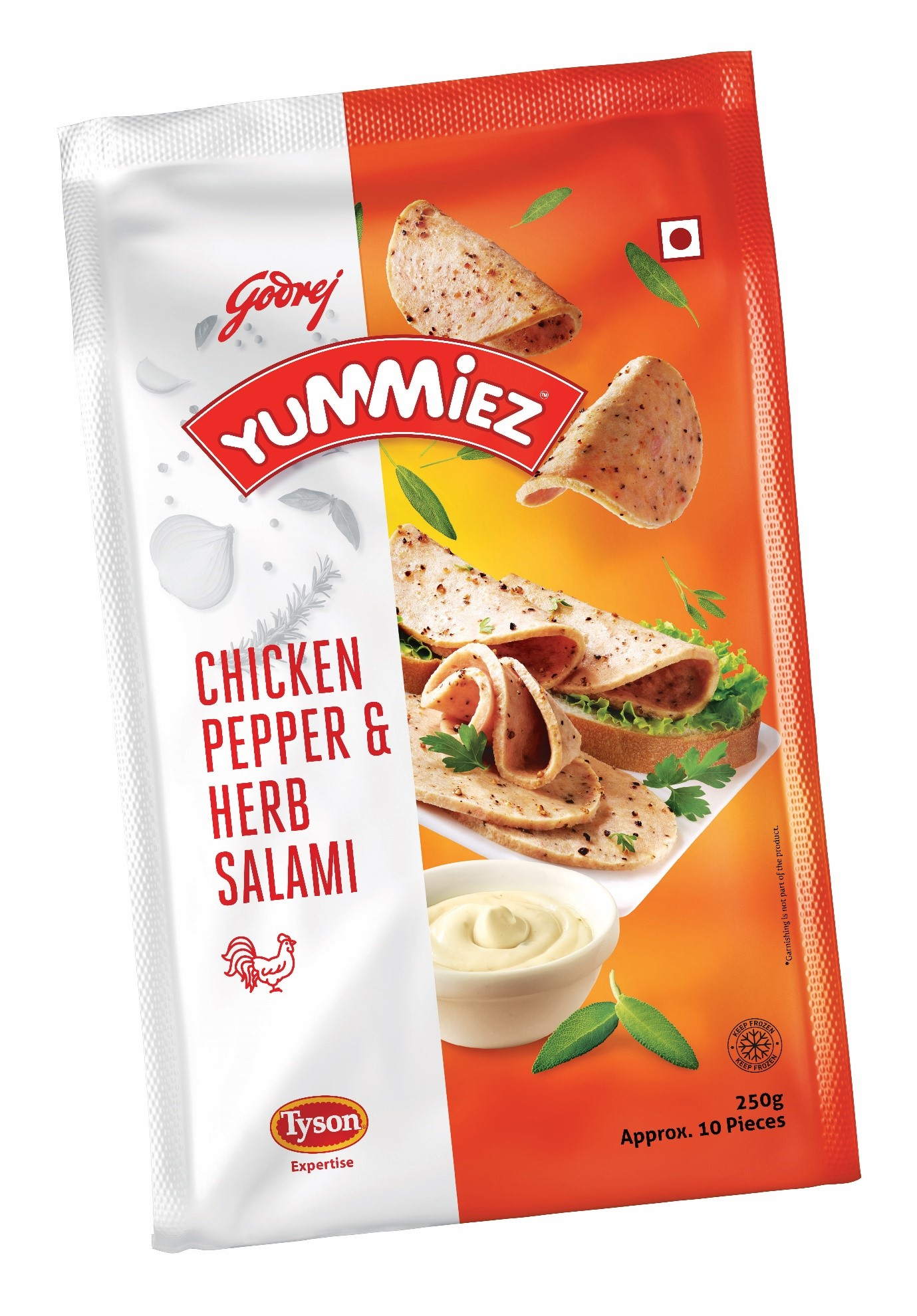 Yummiez Chicken Pepper & Herb Salami 250 g
