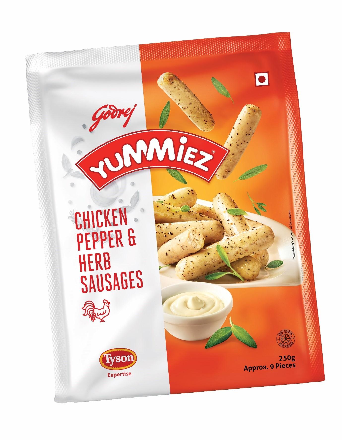 Yummiez Chicken Pepper & Herb Sausages 250 g