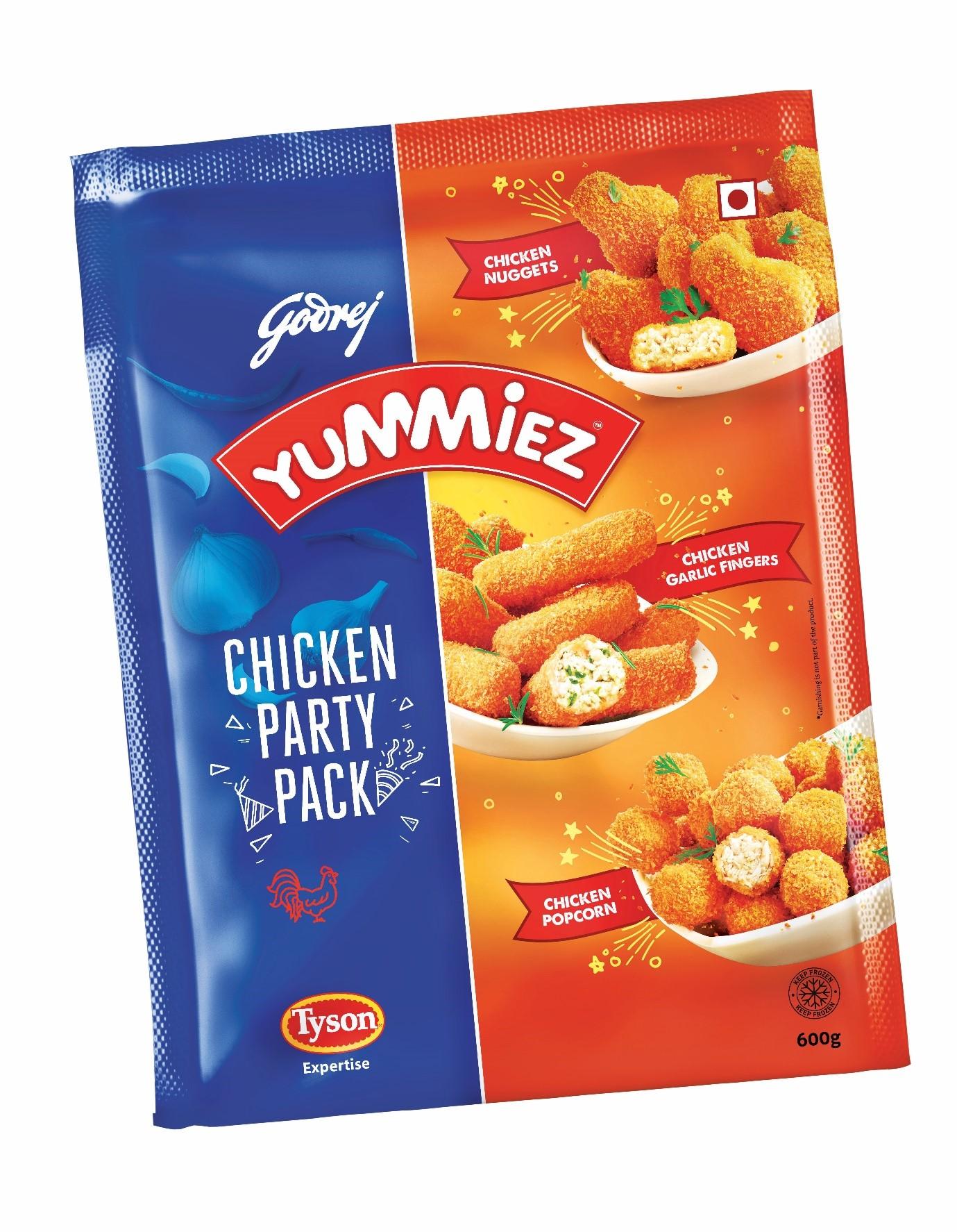 Yummiez Chicken Party Pack 600 g