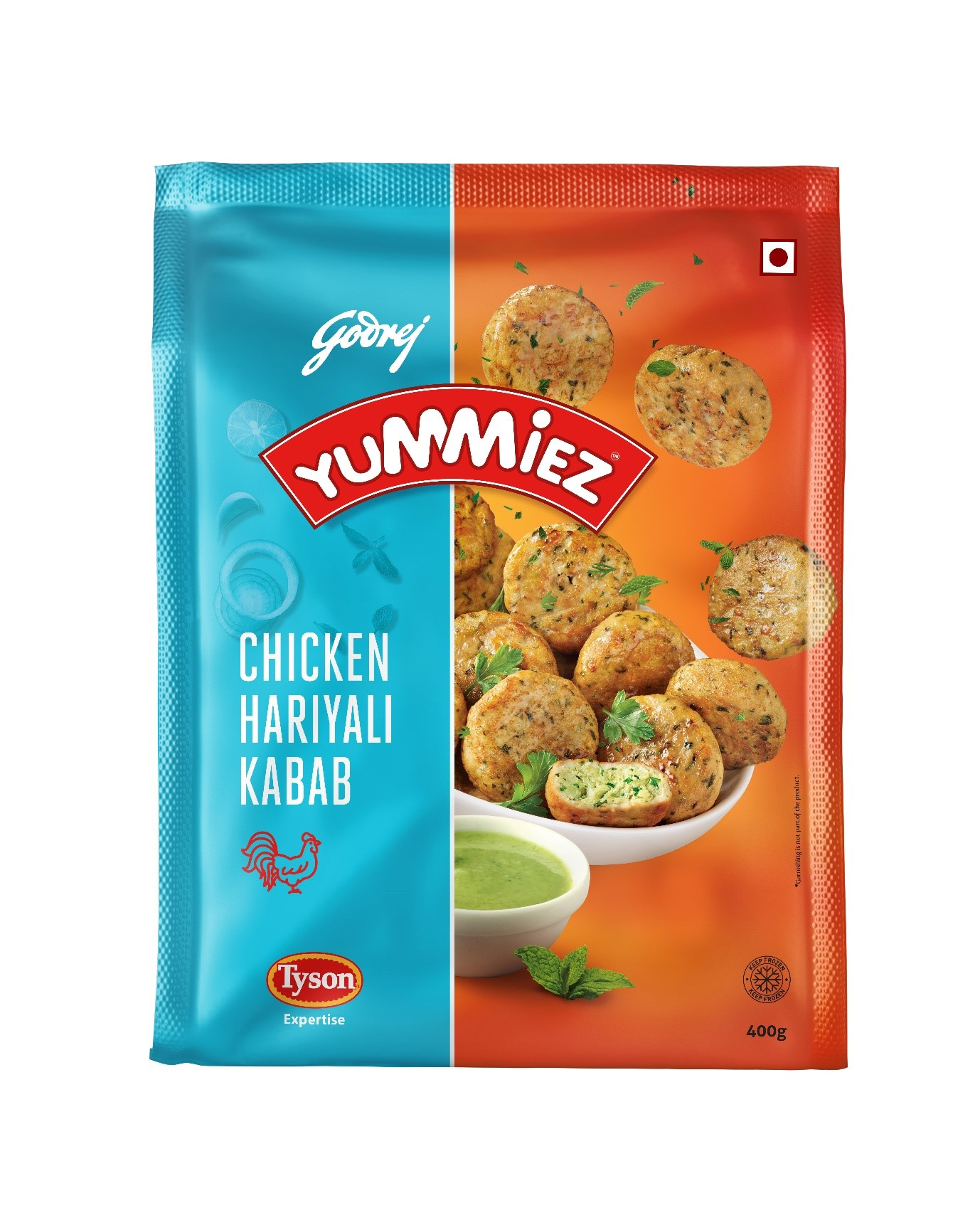Yummiez Chicken Hariyali Kabab 400 g