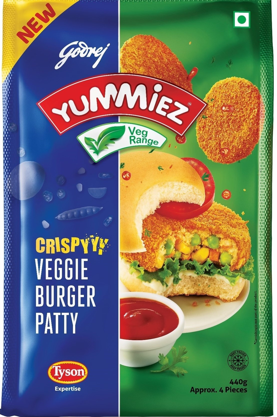 Yummiez Crispy Veggie Burger Patty  440 g