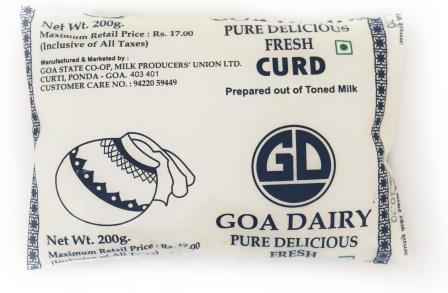 Goa Dairy  Fresh Curd 200 ml