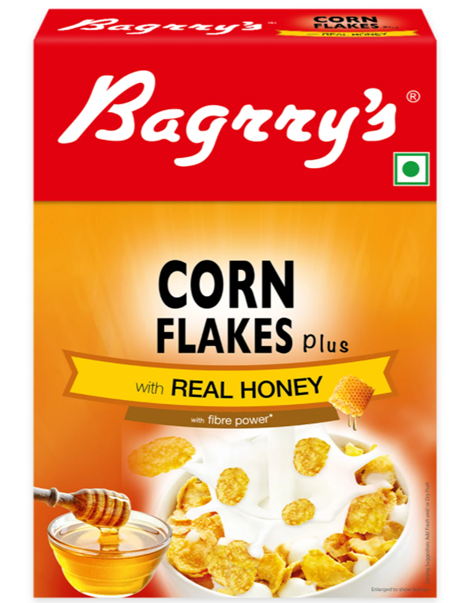 Bagrry's Corn Flakes Plus - Real Honey- 300 g