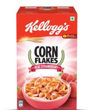 Kellogg's Corn Flakes with Real Strawberry Puree
