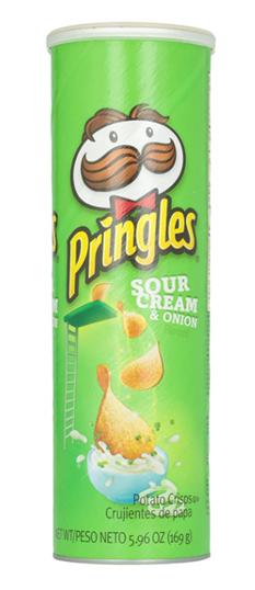 Pringles Potato Crisps - Sour Cream and Onion 107 g