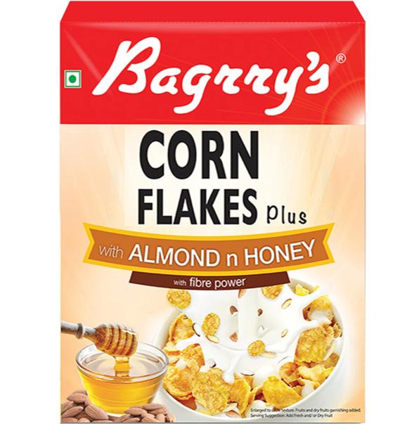 Bagrry's Corn Flakes Plus - Almond n Honey- 300 g
