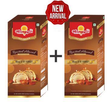 Hangyo Roasted Almond Ice Cream (Judwa Pack)  700 ml Box