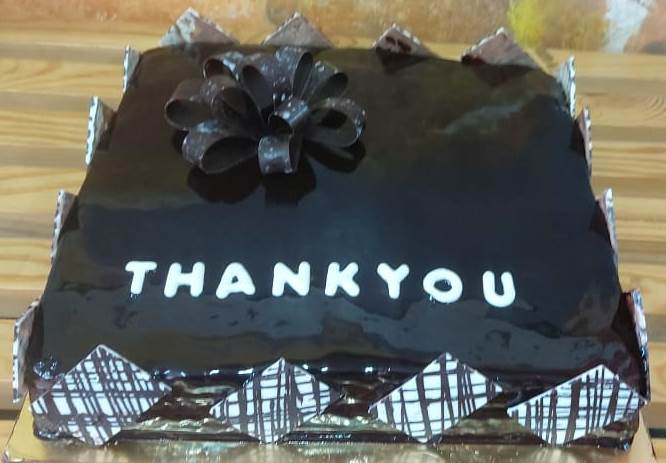 Thank You Chocolate Cake - 2 Kgs