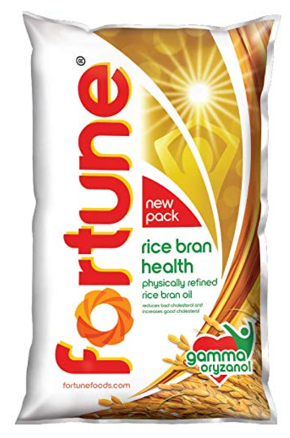 Fortune Rice Bran Cooking Oil - 1 Litre Pouch
