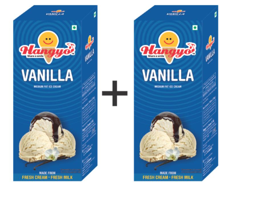 Hangyo Vanilla Ice Cream (Judwa Pack)  700 ml Box