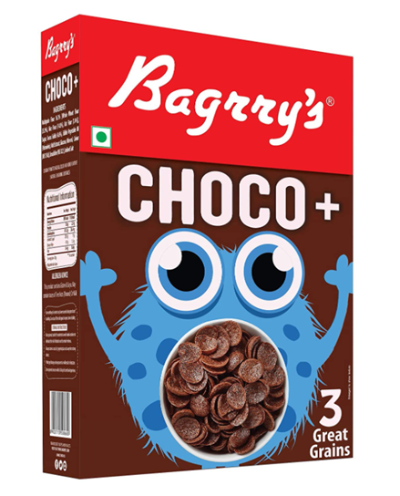 Bagrry's Choco+  with 3 Great Grains - 375 g